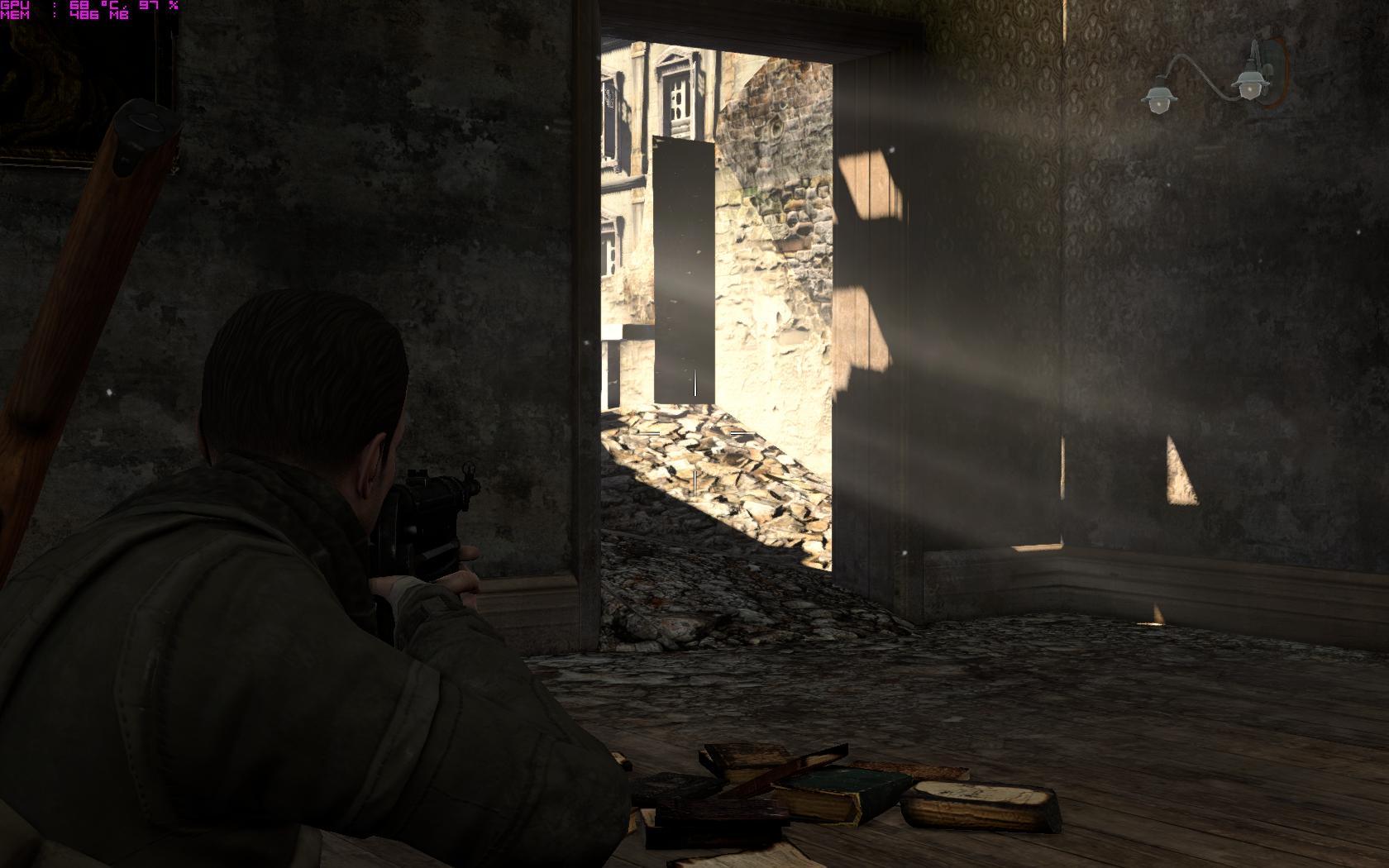 Не могу попасть по баку танка в снайпер элит 2